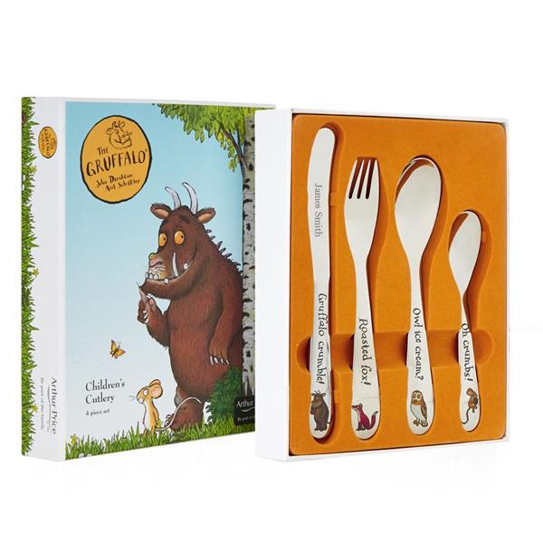 The Gruffalo 4 Piece Personalised Children's Cutlery Set - The Gruffalo Gifts