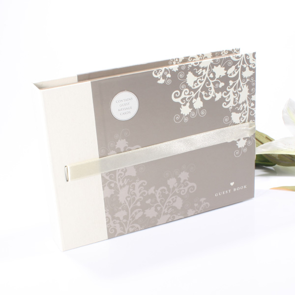 Wedding Guest Book with Message Cards