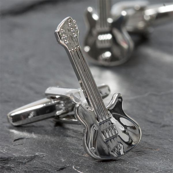 Personalised Retro Electric Guitar Cufflinks - Guitar Gifts