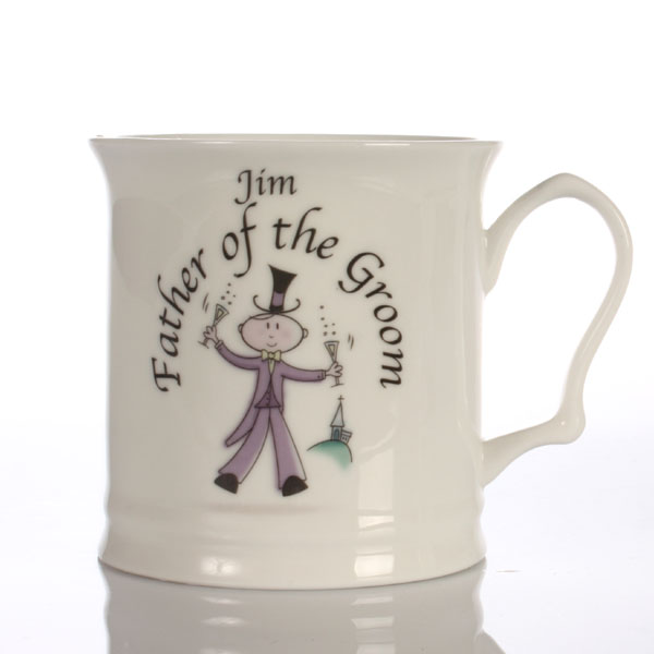 Best Wedding Gift Experiences : Male Wedding Character 1/2 Pint Tankards Groomsman