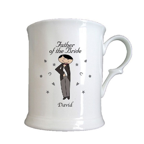 Male Wedding Character 1/2 Pint Tankards Father of the Bride