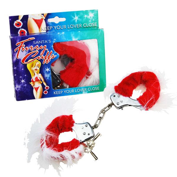 Sexy Santa Hand Cuffs - Sexy Gifts