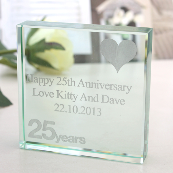25th (Silver) Anniversary Keepsake