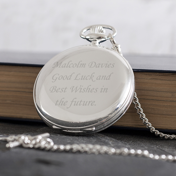 Personalised Sterling Silver Pocket Watch