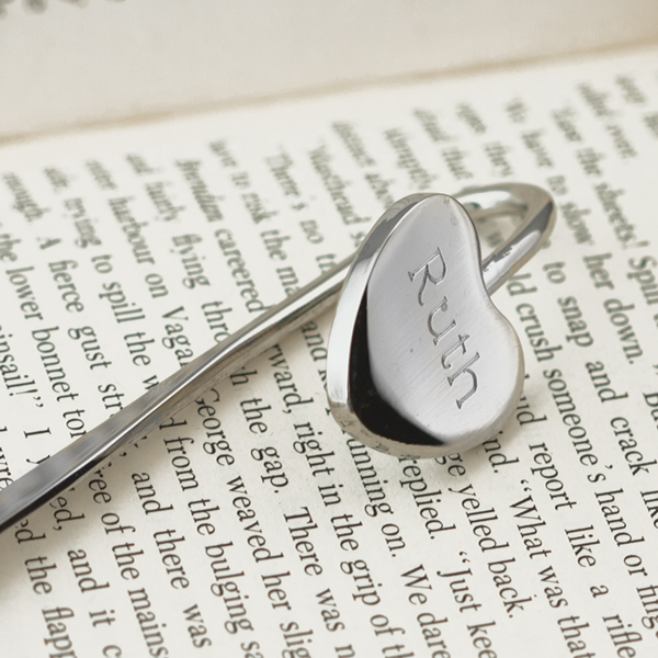 Engraved Heart Bookmark - Engraved Gifts