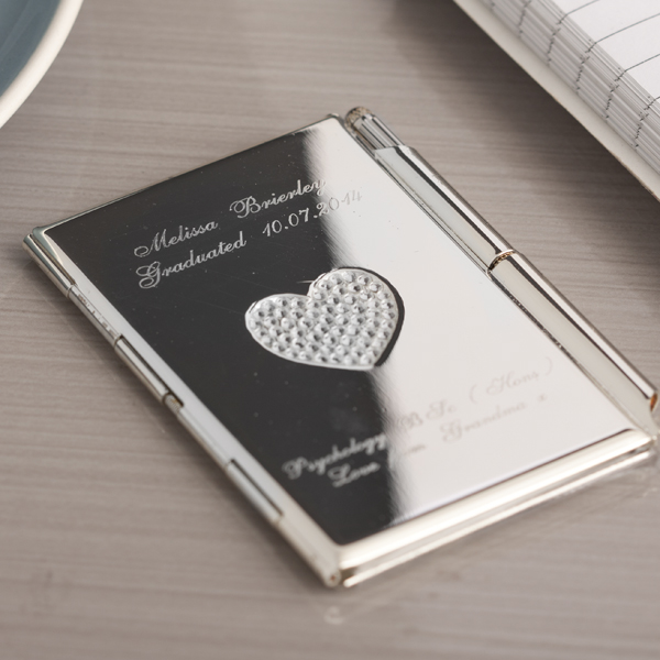 Engraved Heart Notebook and Pen - Notebook Gifts