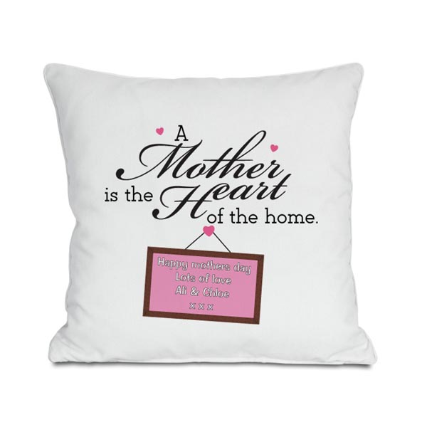 Mother's Day Gift - Heart Of The Home Personalised Cushion