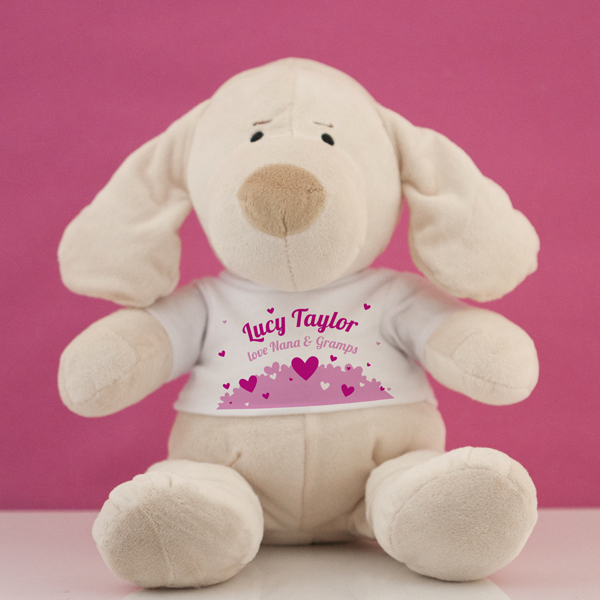 Personalised My First Puppy Soft Toy - Baby Girl - Dogs Gifts