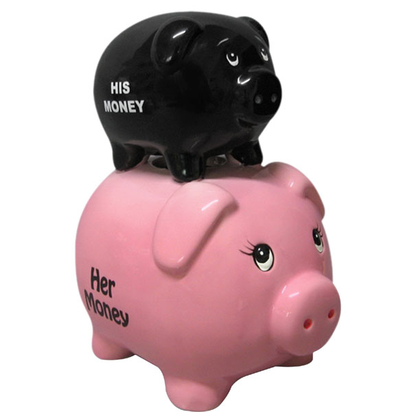 His and Her Piggy Bank - Piggy Bank Gifts