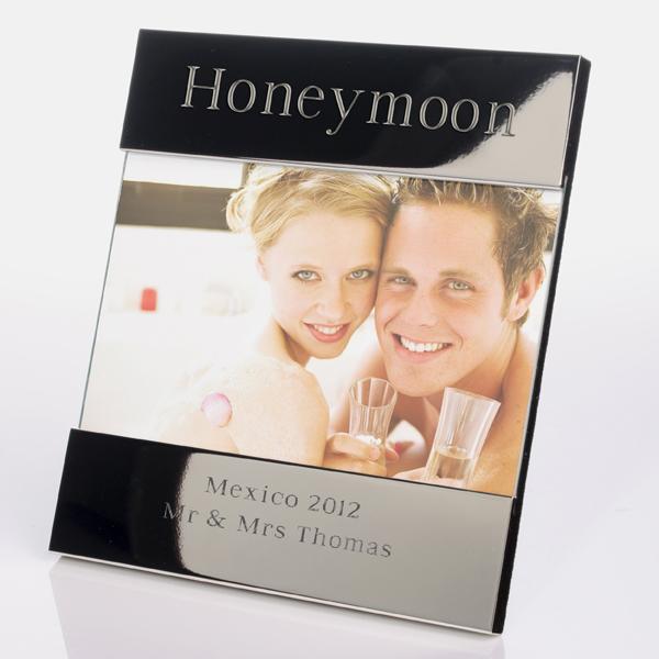 Engraved Honeymoon Photo Frame