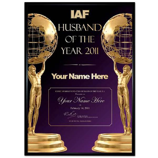 Husband of the Year Award Poster - Husband Gifts