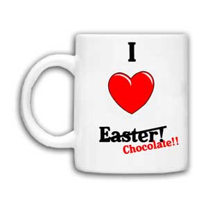 I Heart Easter (Chocolate) Personalised Mug