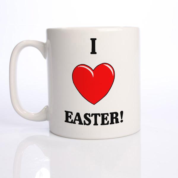 I Heart Easter Personalised Mug