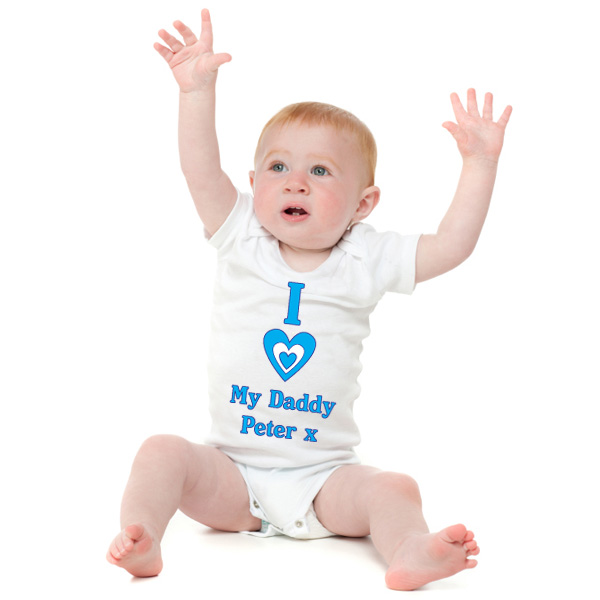 I Heart My Daddy Personalised Baby Grow - Babygrow Gifts