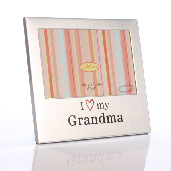 I Love My Grandma Aluminium Photo Frame - Grandma Gifts