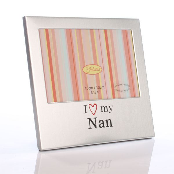 I Love My Nan Photo Frame - Nan Gifts