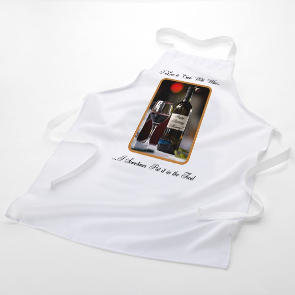 I Love To Cook With Wine Apron - Alcohol Gifts