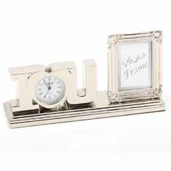 I Love You Frame and Miniature Clock