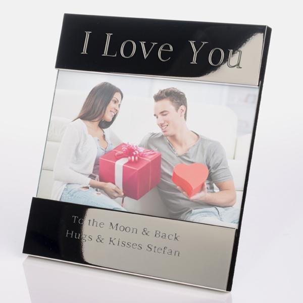 I Love You Shiny Silver Photo Frame - Shiny Gifts
