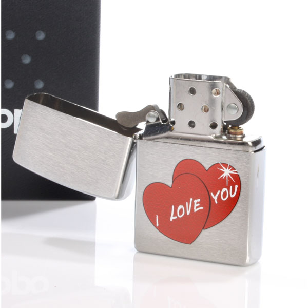 Personalised I Love You Zippo Lighter - Lighter Gifts