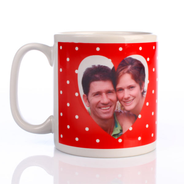 Personalised For My Valentine Heart Image Mug