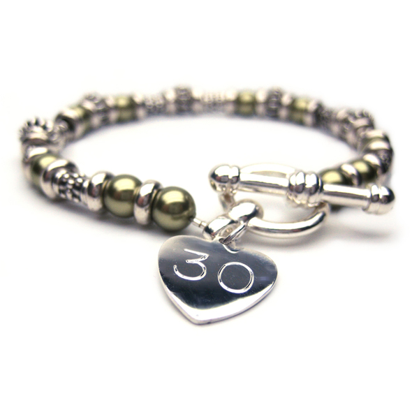 30th Birthday Personalised Inca Bracelet - 30th gift