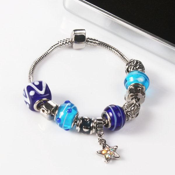 Ogle Charm Bracelet With Personalised Chrome Box - Indigo Design - Indigo Gifts