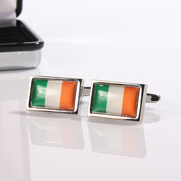 Personalised Irish Flag Cufflinks