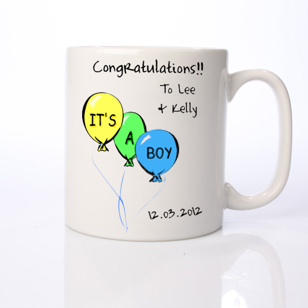 Its a Boy Personalised Mug