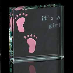 It's A Girl Paperweight