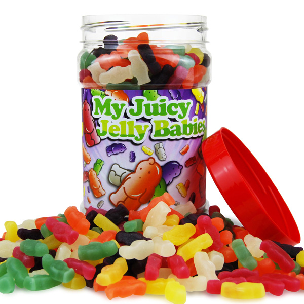 Retro Sweets Juicy Jelly Babies Jar - Retro Sweets Gifts