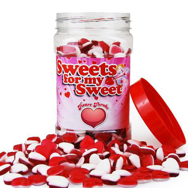 Retro Sweets Happy Heart Throbs Jar - Retro Sweets Gifts