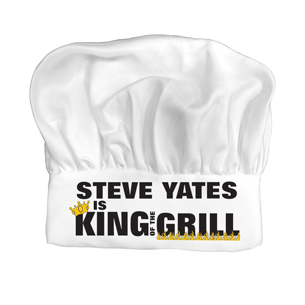 Personalised King of the Grill BBQ Chefs Hat - Bbq Gifts
