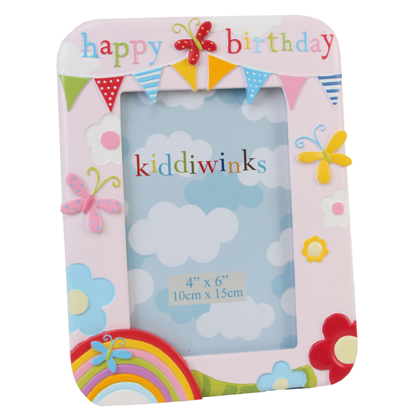 Happy Birthday Pink Kiddiwinks Photo Frame