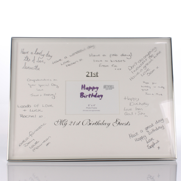 21st Birthday Guest Signatures Frame