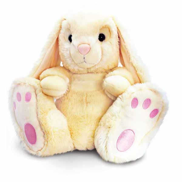 Large Cream Patchfoot Rabbit - Rabbit Gifts