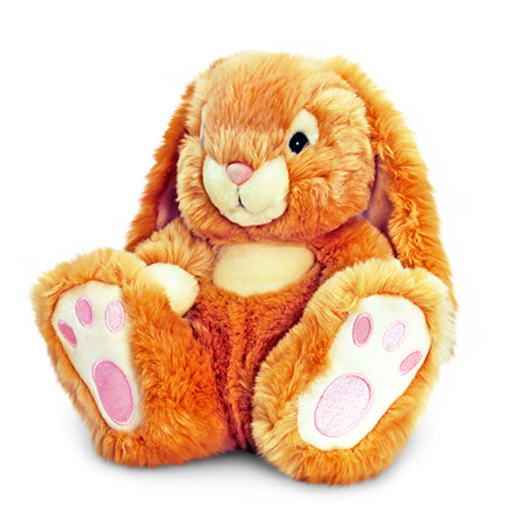 Large Brown Patchfoot Rabbit - Rabbit Gifts