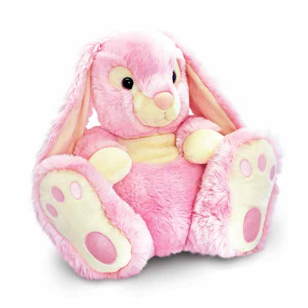 Large Pink Patchfoot Rabbit - Rabbit Gifts