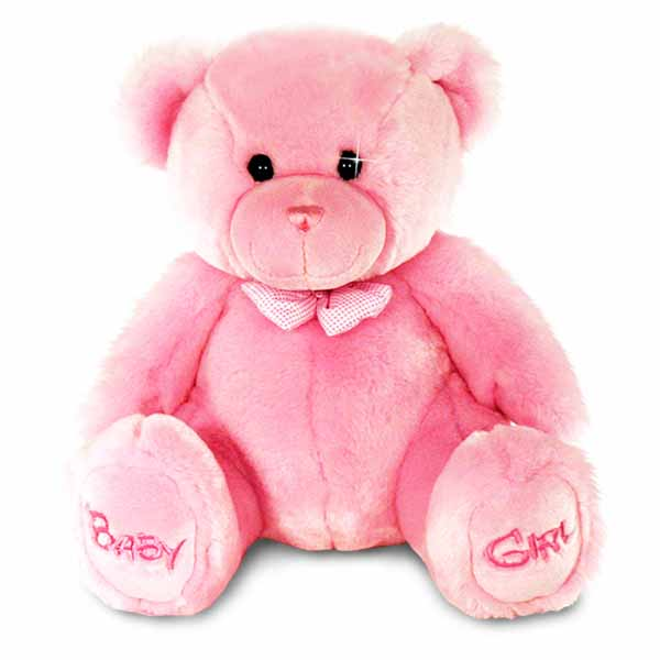 Baby Girl Bear Soft Toy - Baby Girl Gifts