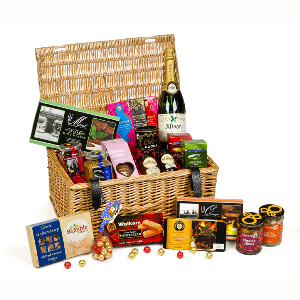Personalised Christmas Hampers Luxury Hamper with Champagne