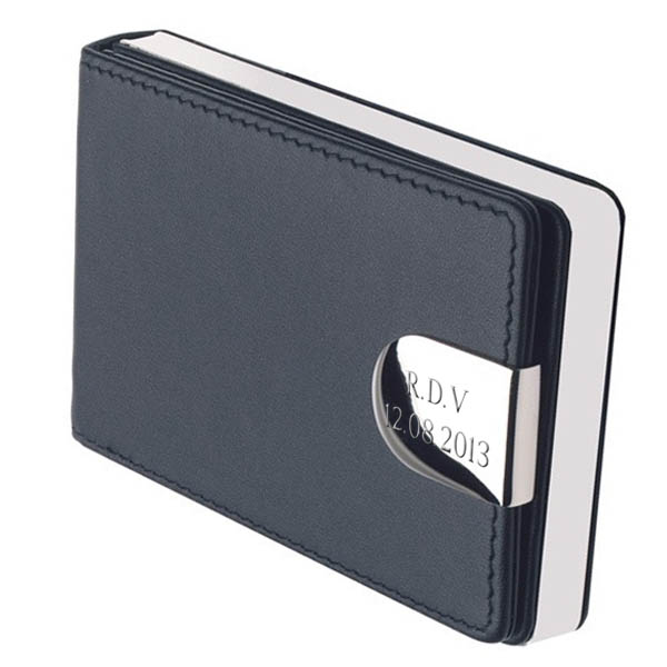 Personalised Leather Business Card Case - Business Gifts