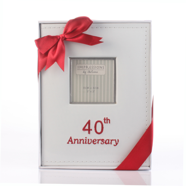 Leather Effect 40th Anniversary Album - 40th Gifts