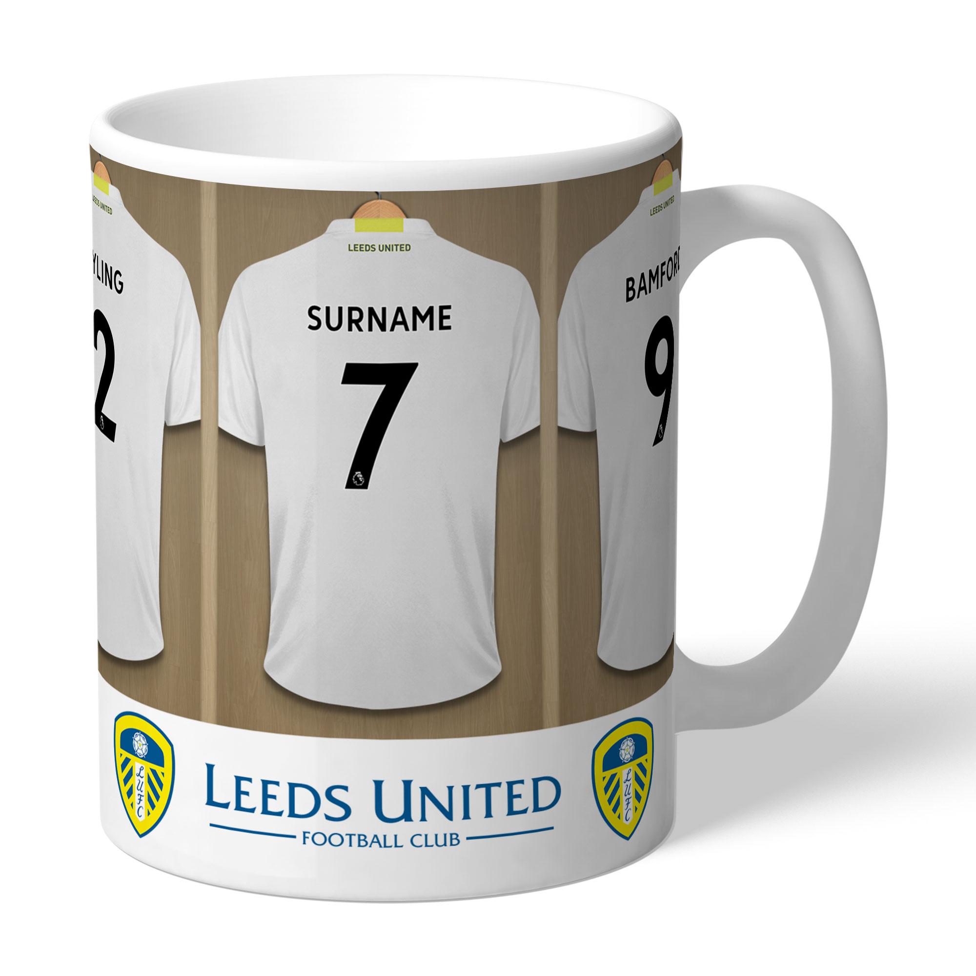 Personalised Leeds United Dressing Room Mug - Leeds United Gifts