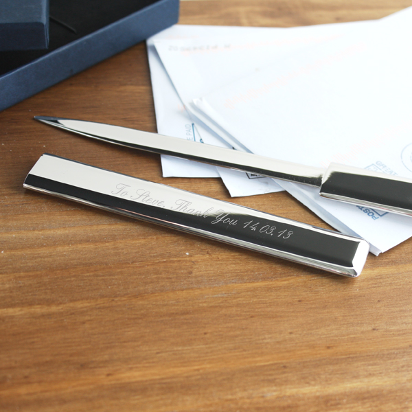 Shiny Metal Sheath Letter Opener - Shiny Gifts