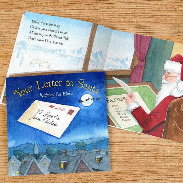 Your Letter to Santa Personalised Book Hardback - Santa Gifts