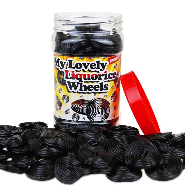 Retro Sweets Lovely Liquorice Wheels Jar - Retro Sweets Gifts