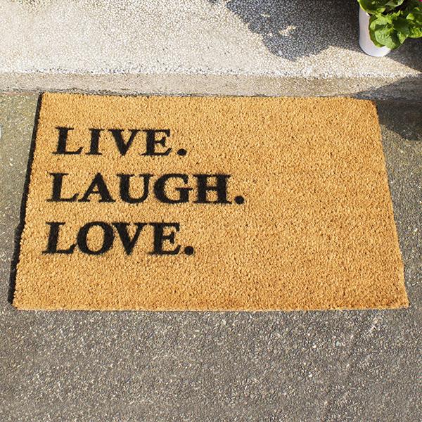 Live Laugh Love Doormat - Laugh Gifts