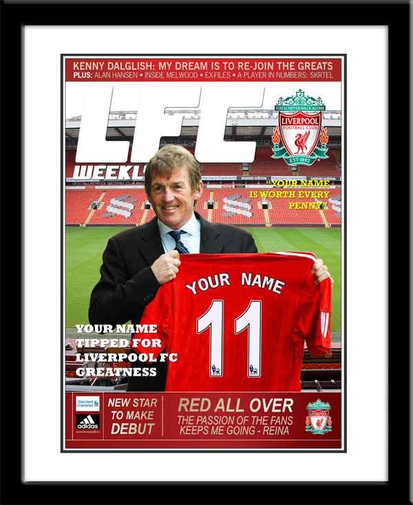 Personalised Liverpool Magazine Cover - Framed - Liverpool Gifts