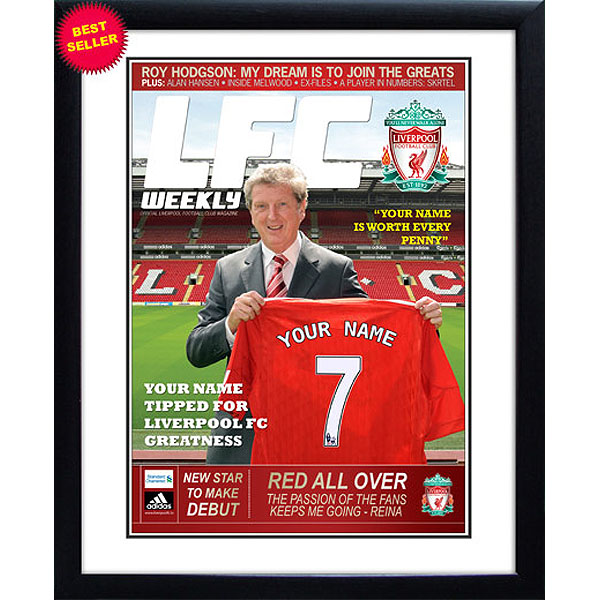 Personalised Liverpool Magazine Cover - Framed