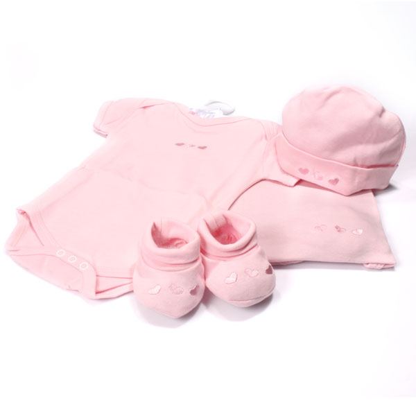 Luxury 5 Piece Baby Girl Gift Set - Baby Girl Gifts